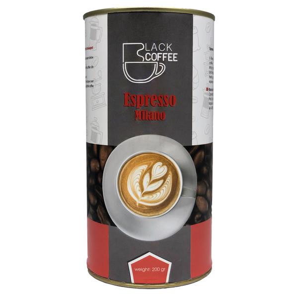 قهوه اسپرسو بلک کافی کد E13 مقدار 200 گرم