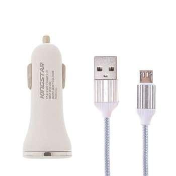 شارژر فندکی کینگ استار مدل K23 C به همراه کابل تبدیل USB-C
