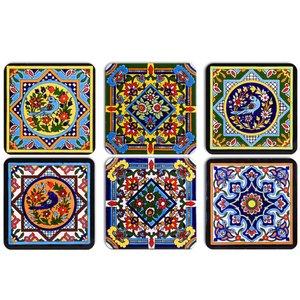 زیرلیوانی ژیوار طرح Tiles series 4 بسته 6 عددی