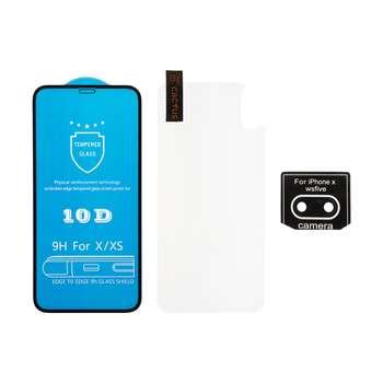 محافظ صفحه نمایش و پشت گوشی کاکتوس مدل  MGPR.Bck مناسب برای گوشی موبایل اپل Iphone X/XS به همراه محافظ لنز دوربین