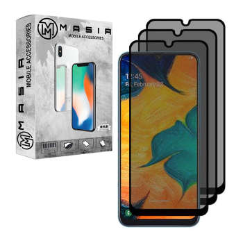 محافظ صفحه نمایش حریم شخصی مسیر مدل MGFPV-2 مناسب برای گوشی موبایل سامسونگ Galaxy A40 بسته 3 عددی