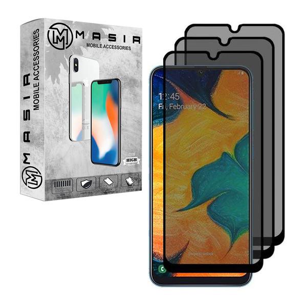 محافظ صفحه نمایش حریم شخصی مسیر مدل MGFPV-3 مناسب برای گوشی موبایل سامسونگ Galaxy A70 بسته 3 عددی