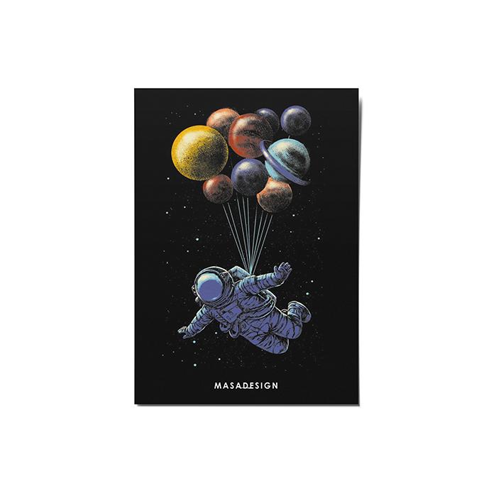 کارت پستال ماسا دیزاین طرح فضانورد کد POST66