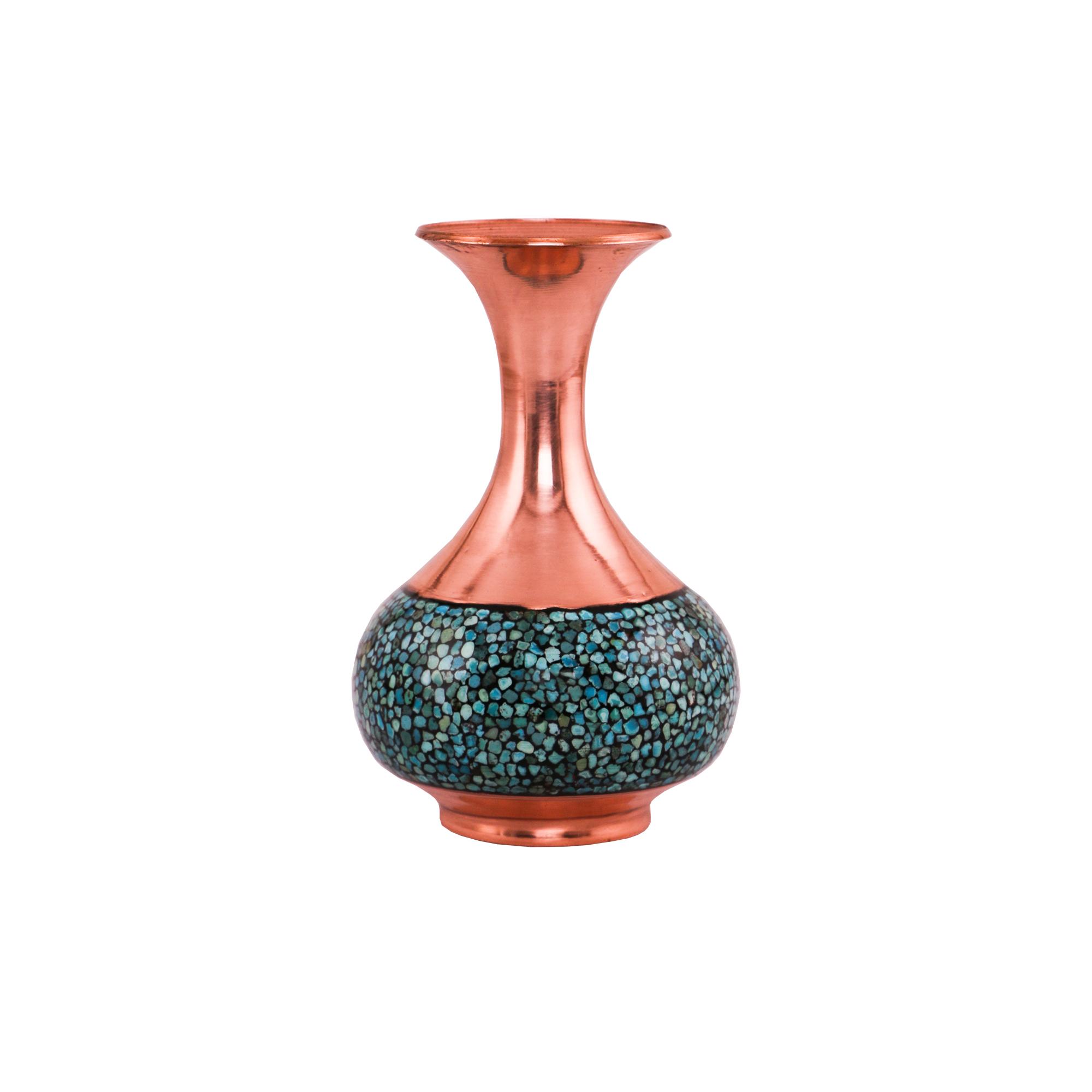 گلدان فیروزه کوبی کد 729