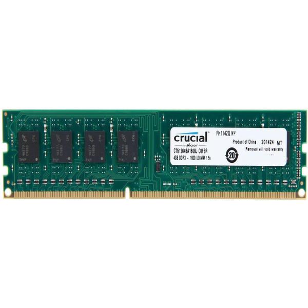 رم دسکتاپ DDR3 تک کاناله 1600 مگاهرتز CL11 کروشیال ظرفیت 4 گیگابایت