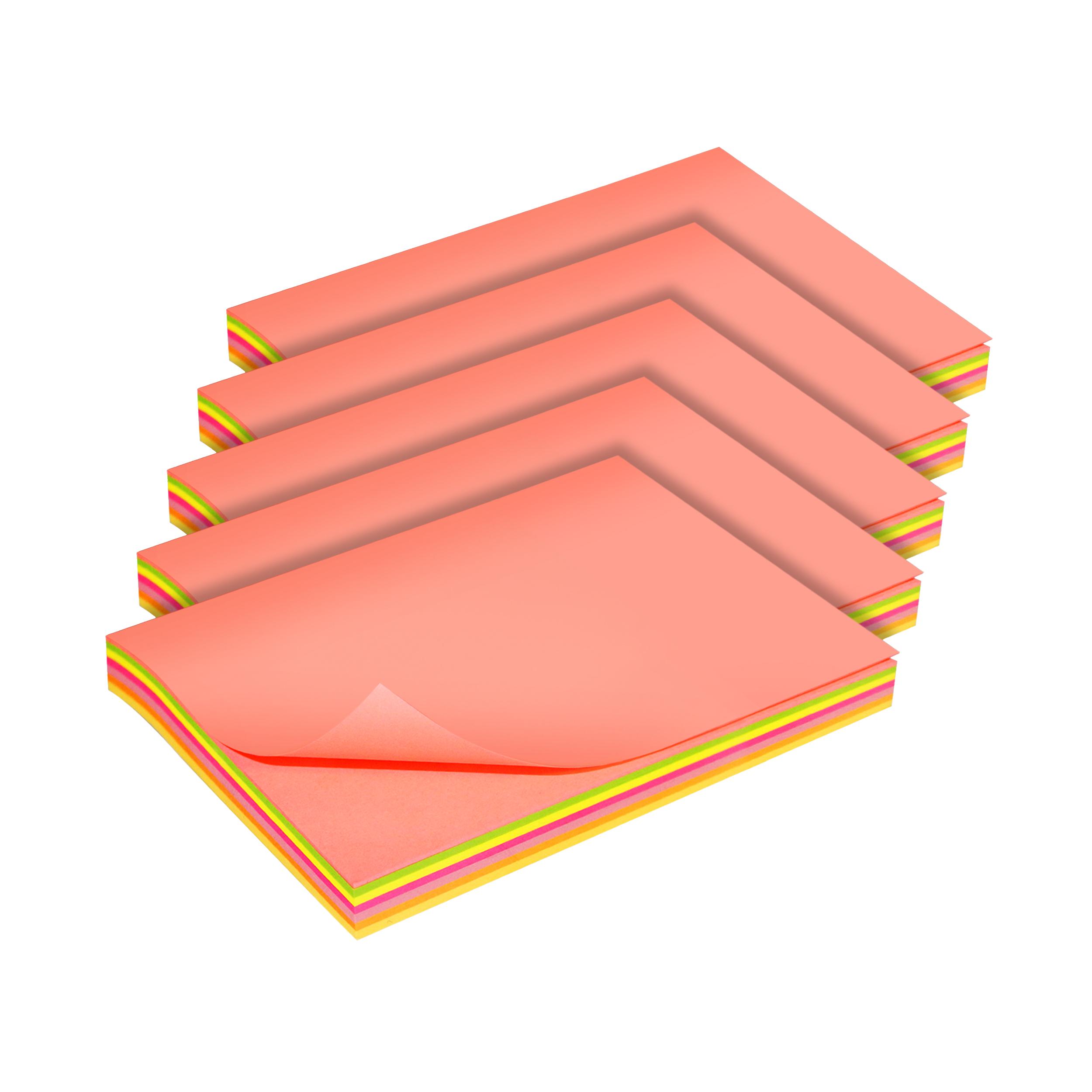 کاغذ یادداشت چسب دار سان رایز  کد STN-100-MC-100 بسته 5 عددی