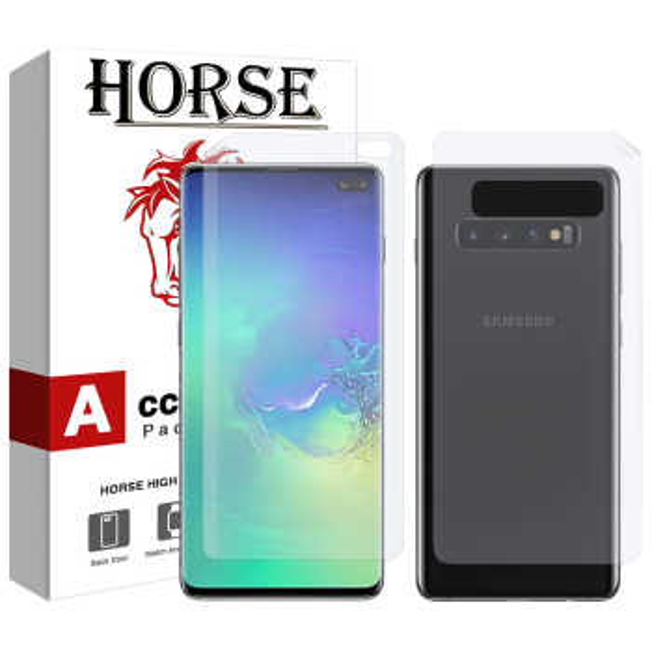 محافظ صفحه نمایش و پشت گوشی هورس مدل FSN مناسب برای گوشی موبایل سامسونگ Galaxy S10 Plus