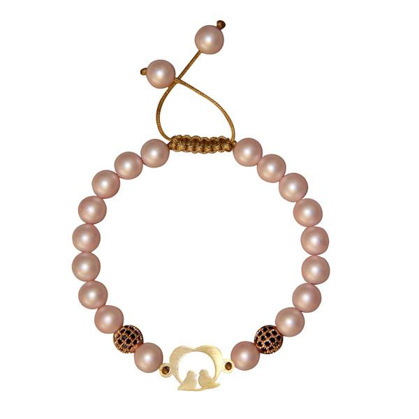 دستبند طلا 18 عیار دخترانه گالری مهرسا کد L-110