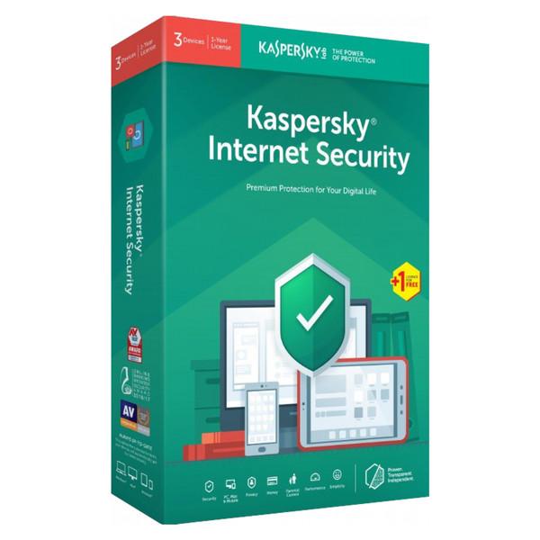 نرمافزار امنیتی Internet Security کسپرسکی لب نسخه آی اس پی 2019  1+3 کاربره 1 ساله