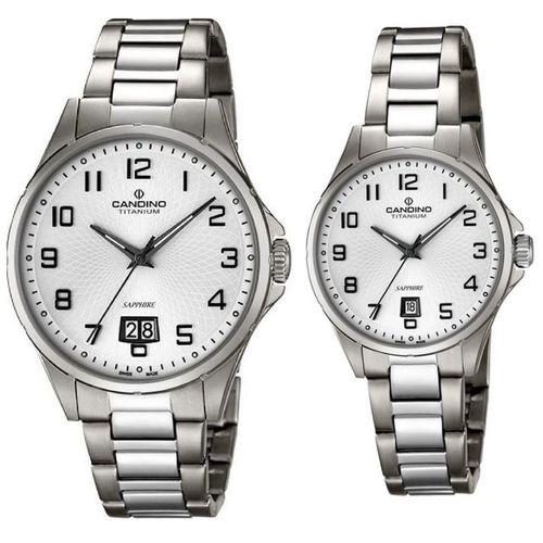 ست ساعت مچی عقربه ای زنانه و مردانه کاندینو کد C4607-1 و C4608-1