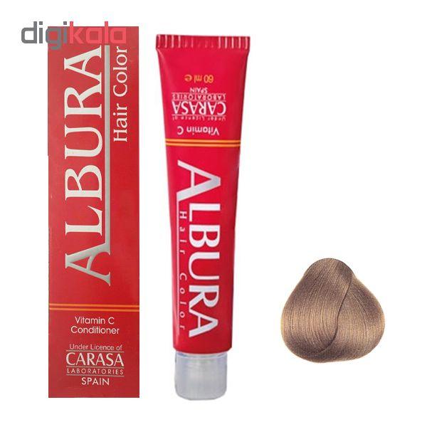 رنگ مو آلبورا مدل carasa شماره 6.47 حجم 100 میلی لیتر رنگ بلوند نسکافه ای تیره