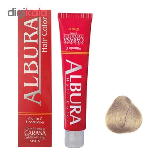 رنگ مو آلبورا مدل carasa شماره 8.47 حجم 100 میلی لیتر رنگ بلوند نسکافه ای روشن