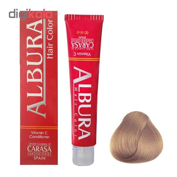 رنگ مو آلبورا مدل carasa شماره 8.31 حجم 100 میلی لیتر رنگ بلوند دودی طلایی روشن
