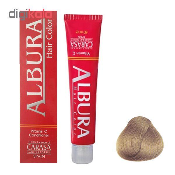 رنگ مو آلبورا مدل carasa شماره 8.45 حجم 100 میلی لیتر رنگ بلوند تنباکویی روشن