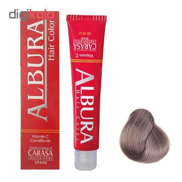رنگ مو آلبورا مدل carasa شماره c7-8.1 حجم 100 میلی لیتر رنگ بلوند دودی روشن main 1 1