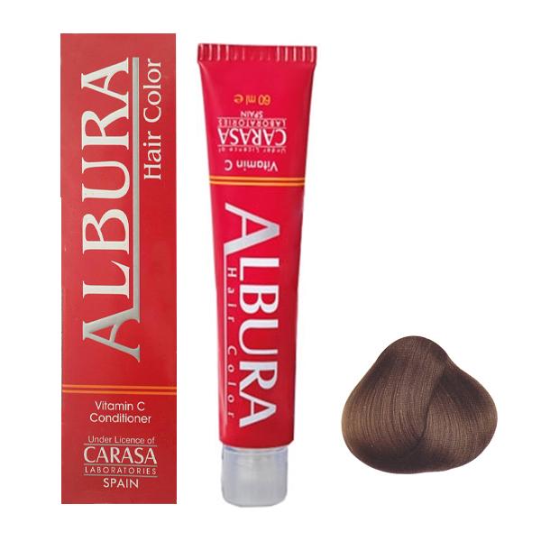 رنگ مو آلبورا مدل carasa شماره 5.45 حجم 100 میلی لیتر رنگ قهوه ای تنباکویی