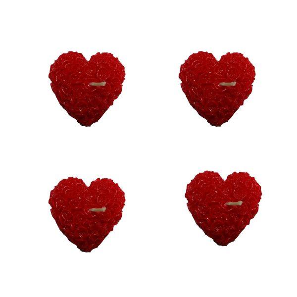 شمع ماهک مدل قلب بسته 4 عددی