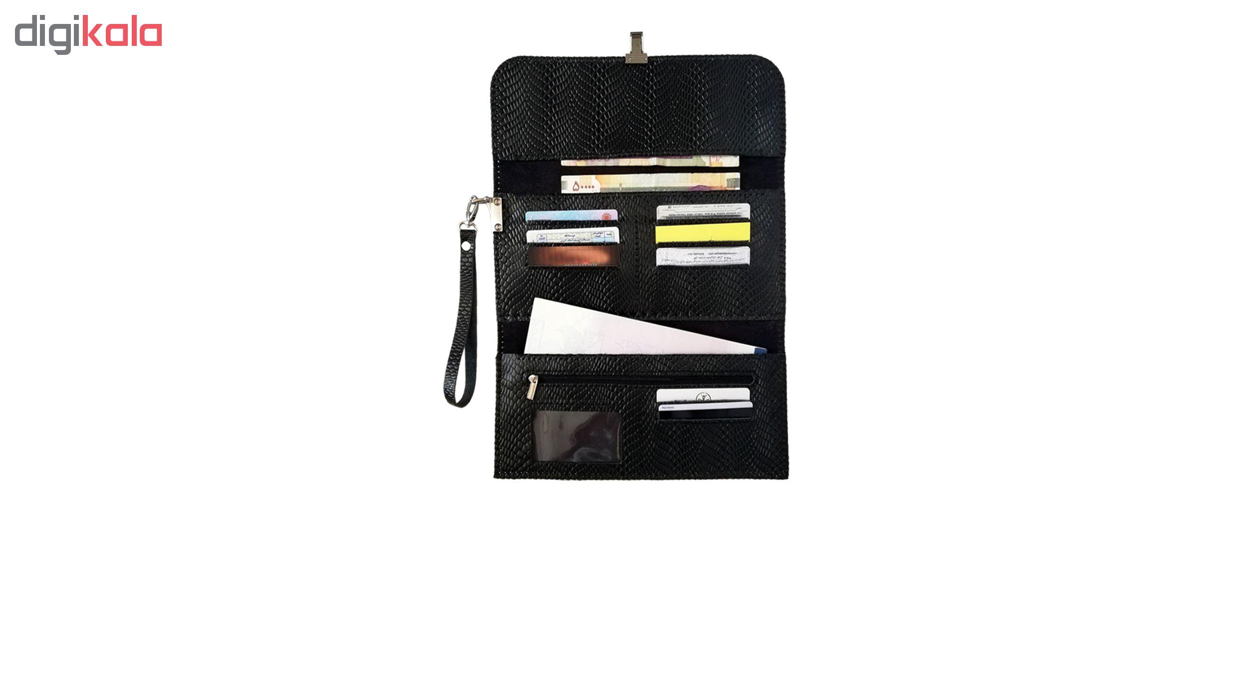 کیف  چرمی مدل دسته چک کد MRK5