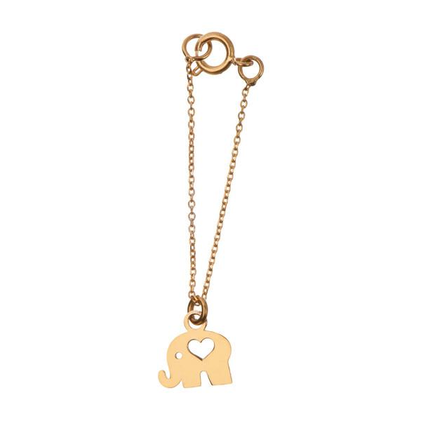 آویز ساعت طلا 18 عیار زنانه طرح فیل کد SG314