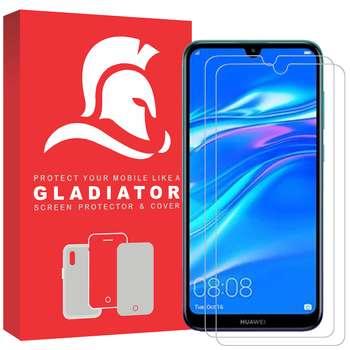 محافظ صفحه نمایش گلادیاتور مدل GLH2000 مناسب برای گوشی موبایل هوآوی Y7 Prime 2019 بسته دو عددی