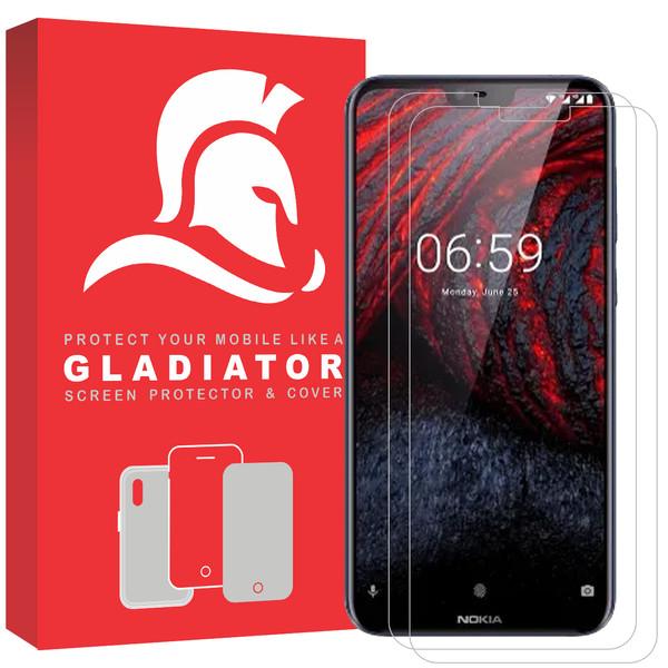 محافظ صفحه نمایش گلادیاتور مدل NN2-61 مناسب برای گوشی موبایل نوکیا 6.1 plus بسته دو عددی