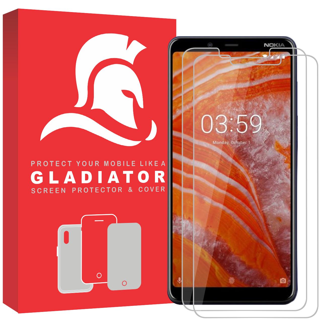 محافظ صفحه نمایش گلادیاتور مدل NN2-31 مناسب برای گوشی موبایل نوکیا 3.1 plus بسته دو عددی