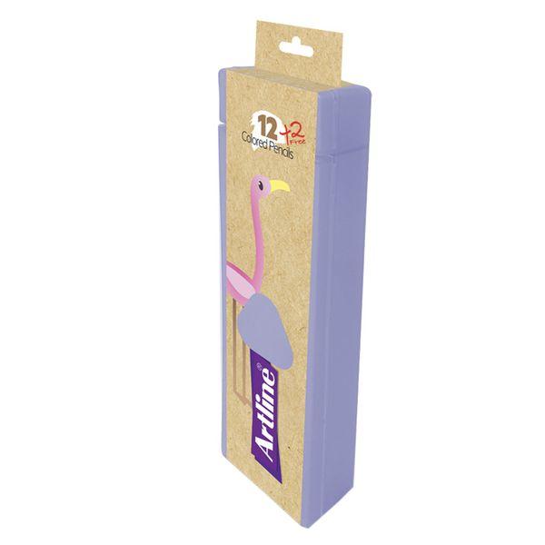 مداد رنگی 14 رنگ آرت لاین مدل ECP12-PLS/IL