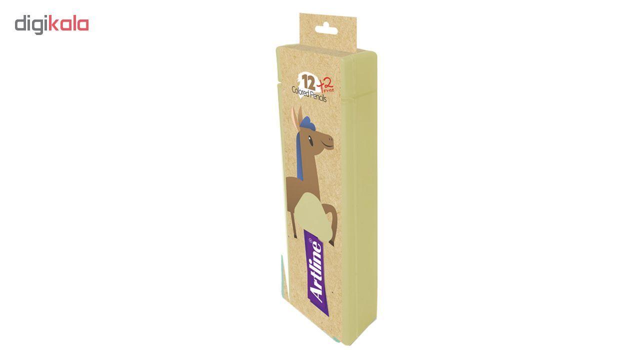 مداد رنگی 14 رنگ آرت لاین مدل ECP12-PLS/IL main 1 2