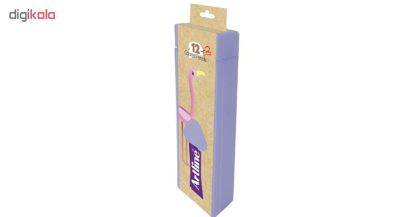 مداد رنگی 14 رنگ آرت لاین مدل ECP12-PLS/IL main 1 3