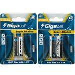 باتری قلمی و نیم قلمی گیگاسل مدل Super Alkaline - بسته 4 عددی thumb