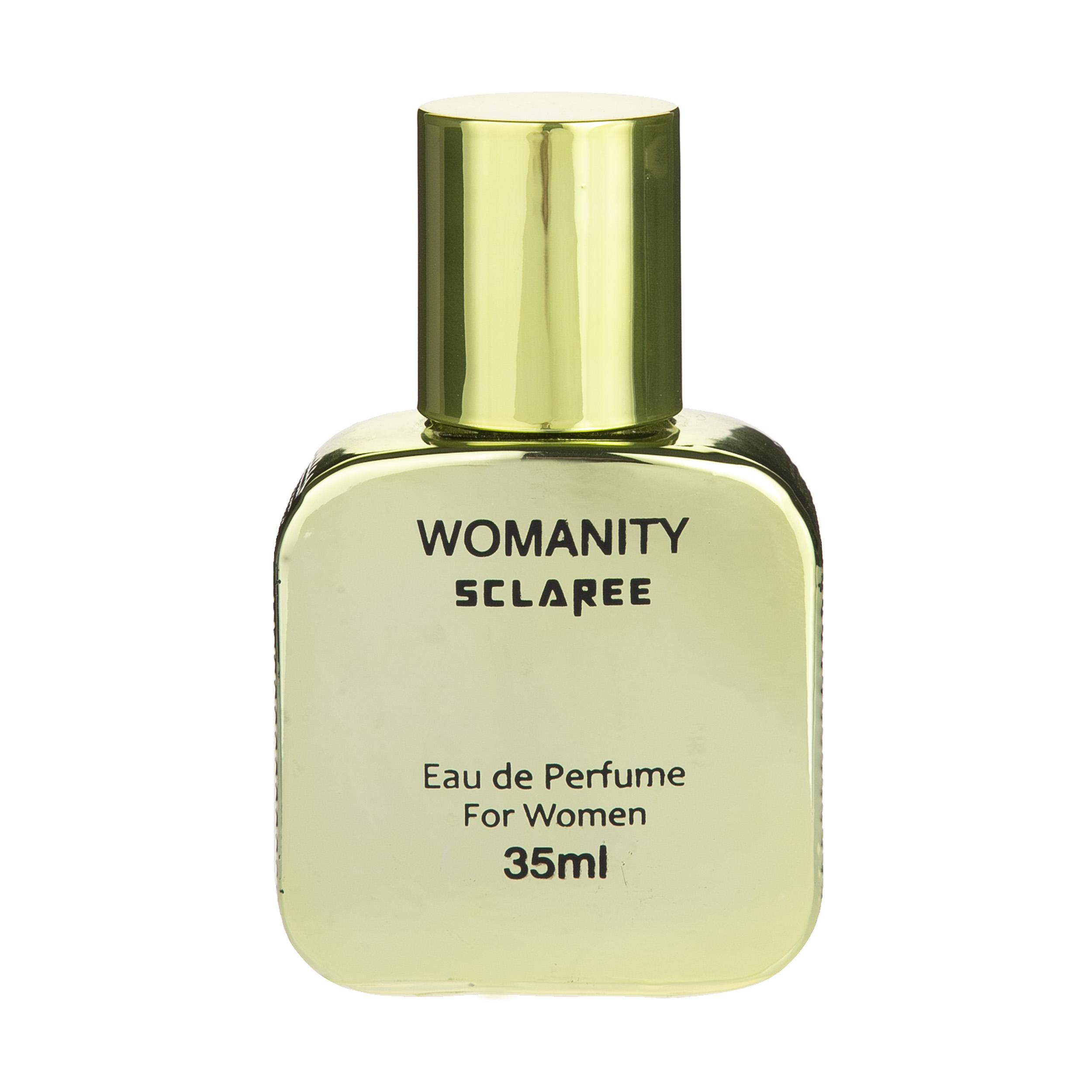 ادوپرفیوم زنانه اسکلاره مدل womanity حجم 35 میلی لیتر