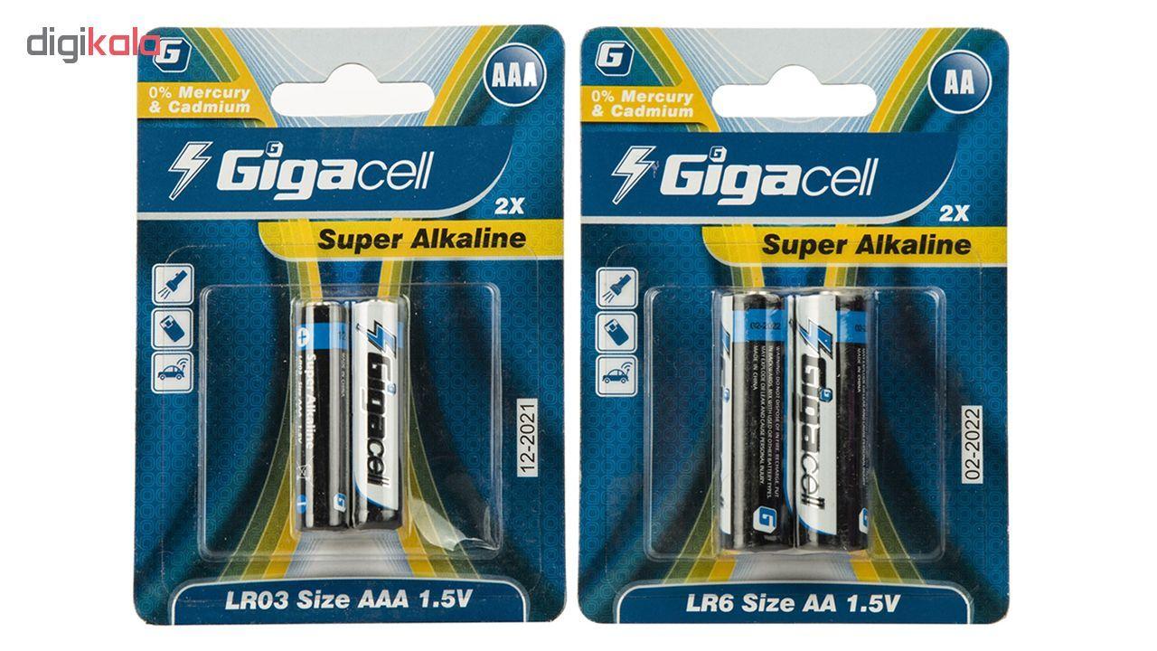 باتری قلمی و نیم قلمی گیگاسل مدل Super Alkaline - بسته 4 عددی main 1 1