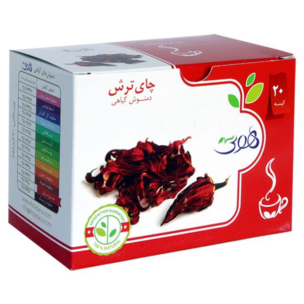 دمنوش گیاهی چای ترش هوتی بسته 20 عددی