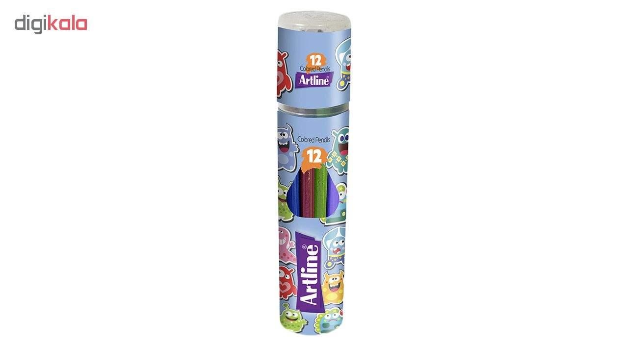 مداد رنگی 12 رنگ آرت لاین مدل ECP12-PLR/IL main 1 1