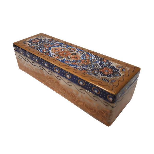 جعبه سنگ مرمر طرح تذهیب فرشی کد 30145