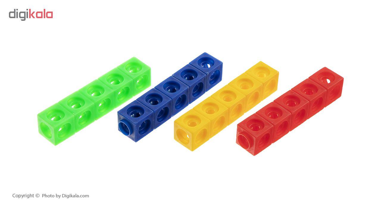 بازی آموزشی چینه مدل مکعب های ریاضی بسته 2 عددی
