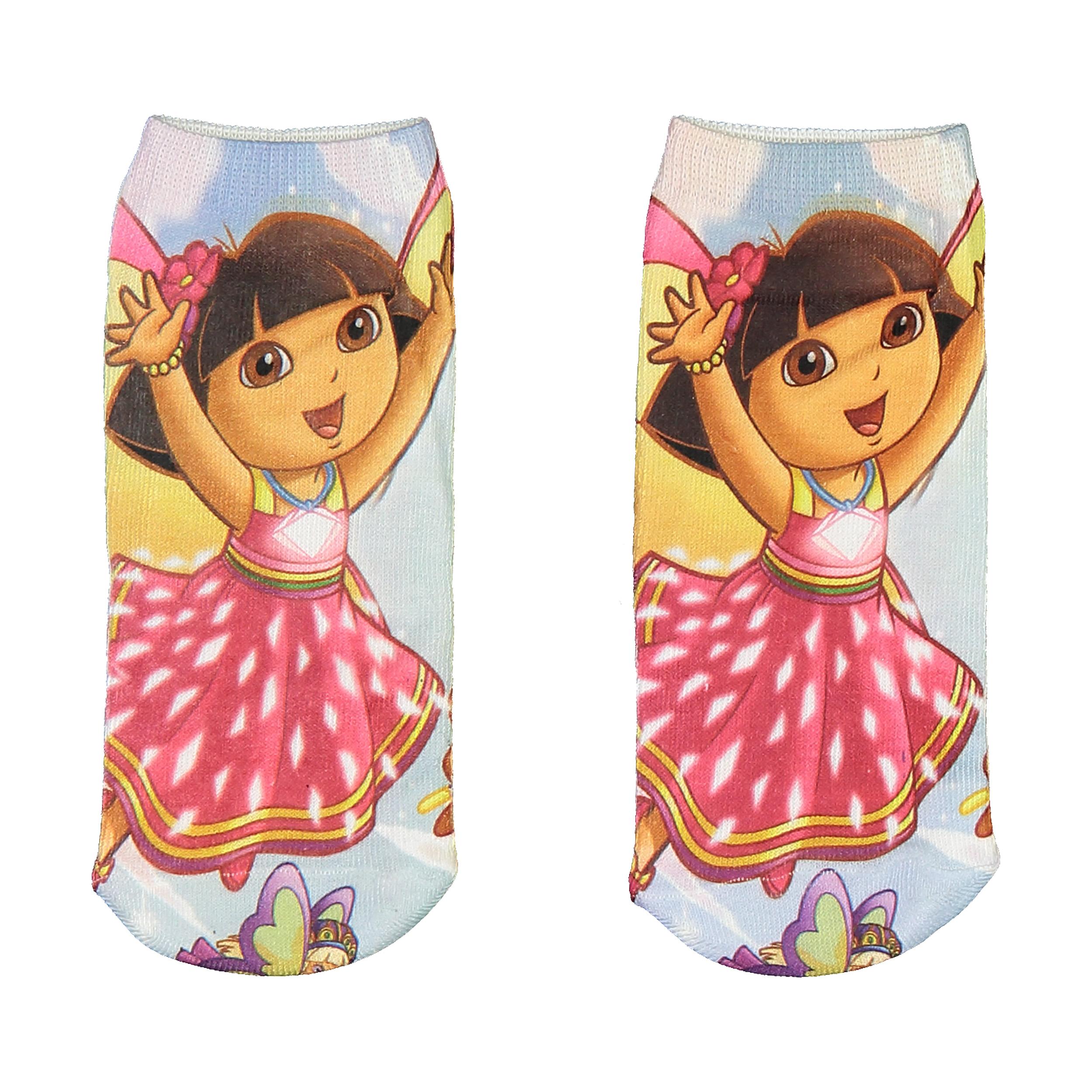جوراب  دخترانه طرح دورا کد 4