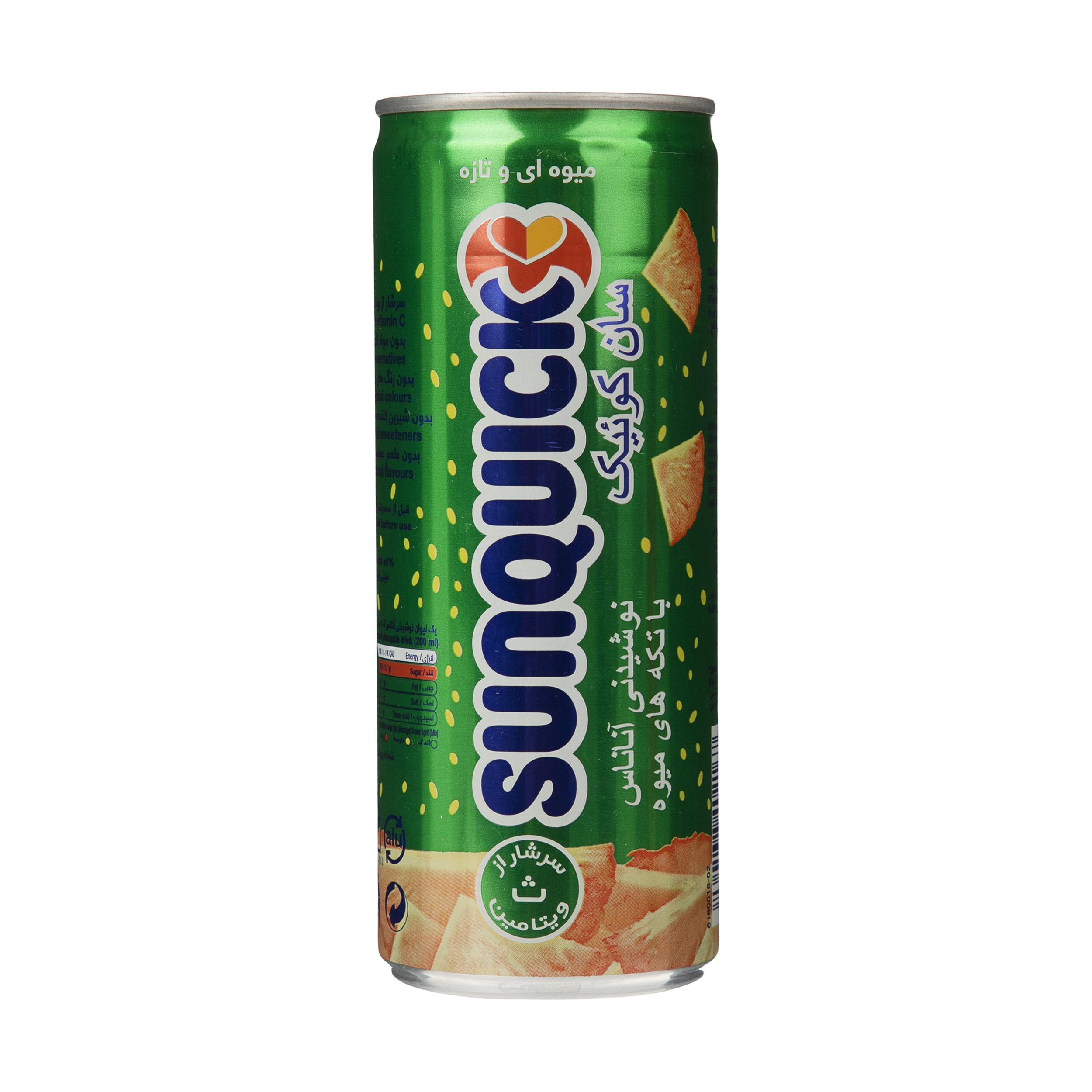 نوشیدنی سان کوئیک آناناس حجم 240 میلی لیتر