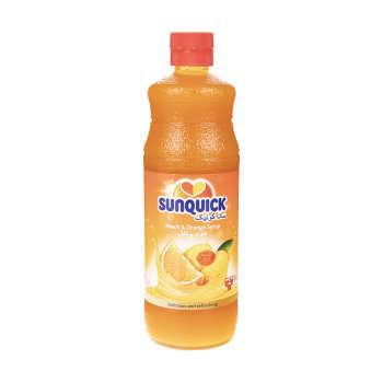 شربت هلو و پرتقال سان کوئیک حجم 840 میلی لیتر
