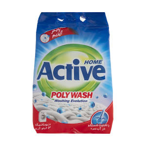 پودر ماشین لباسشویی اکتیو مدل Poly Wash مقدار 2 کیلو گرم