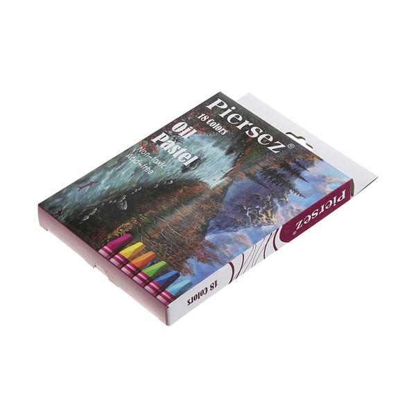 مداد شمعی 18 رنگ پییرسز کد 510808