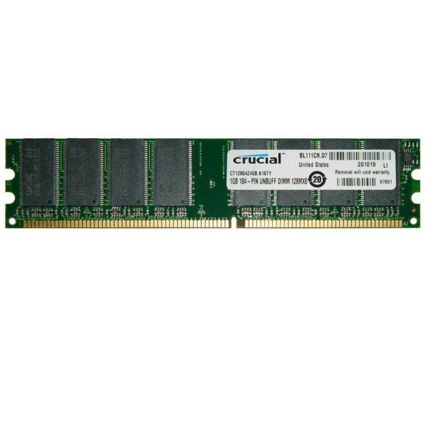 رم دسکتاپ DDR تک کاناله 400 مگاهرتز CL2.5 کروشیال ظرفیت 1 گیگابایت