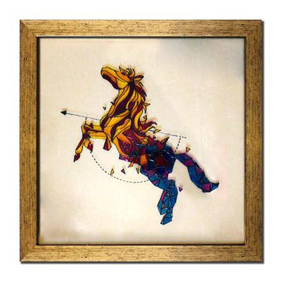 Photo of تابلو ویترای طرح اسب