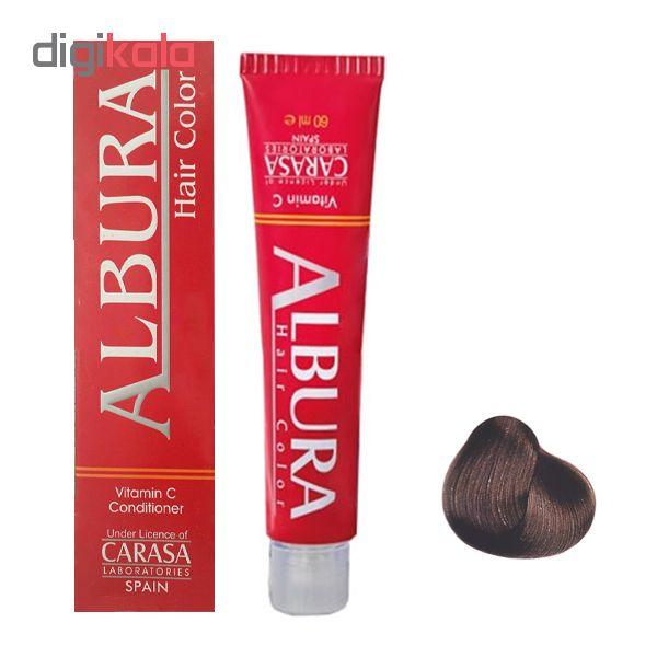 رنگ مو آلبورا مدل carasa شماره A5-6.11 حجم 100 میلی لیتر رنگ بلوند خاکستری تیره