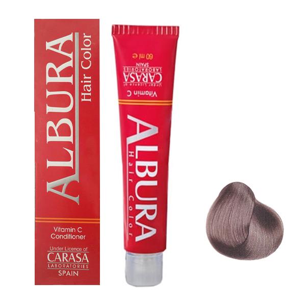 رنگ مو آلبورا مدل carasa شماره A4-5.11 حجم 100 میلی لیتر رنگ بلوند خاکستری خیلی روشن