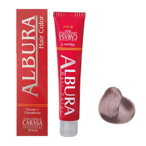 رنگ مو آلبورا مدل carasa شماره A10-11.11 حجم 100 میلی لیتر رنگ بلوند خاکستری خیلی خیلی روشن