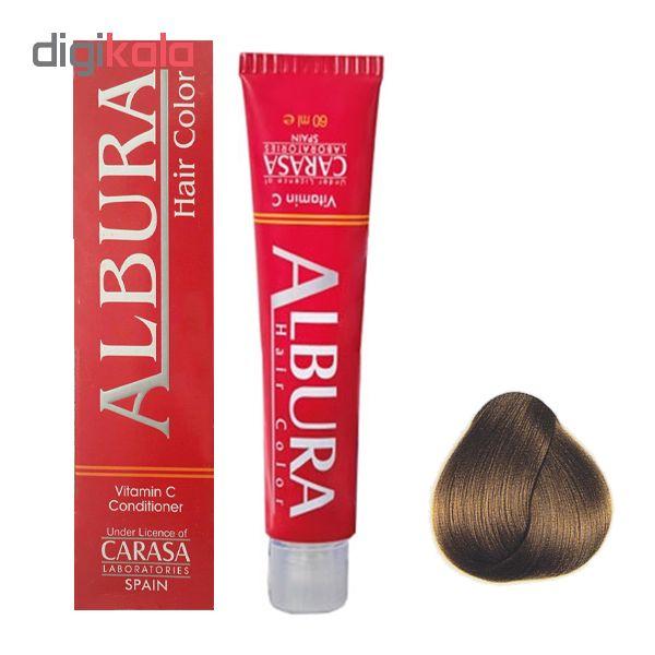 رنگ مو آلبورا مدل carasa شماره 6.77 حجم 100 میلی لیتر رنگ کاپوچینو