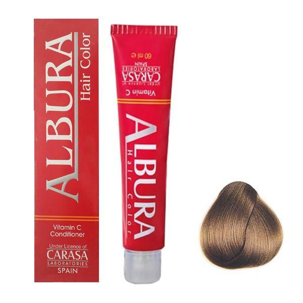 رنگ مو آلبورا مدل carasa شماره 8.77 حجم 100 میلی لیتر رنگ بلوند کاپوچینو روشن