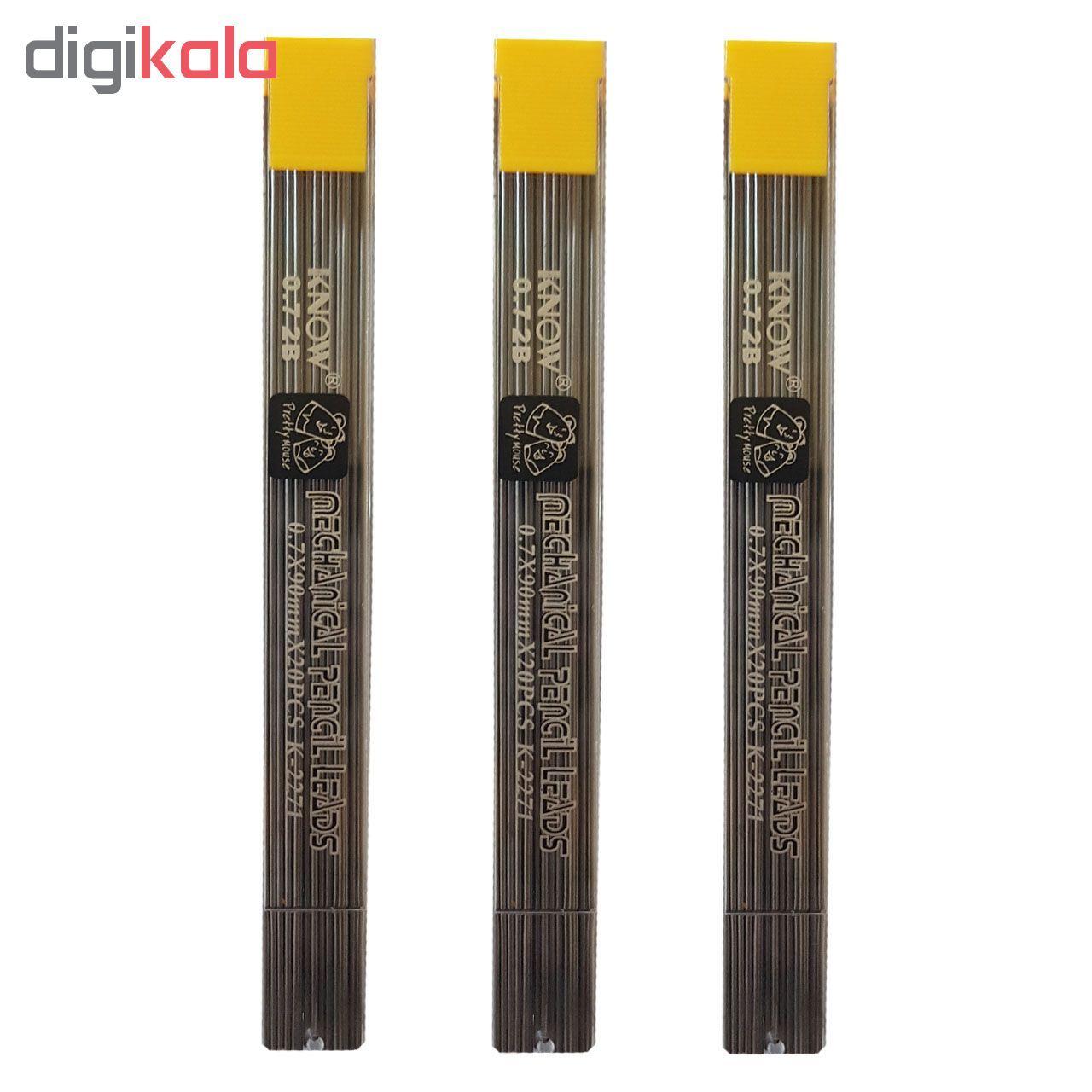 نوک مداد نوکی 0.7 میلی متری نو کد K-2271 بسته 3 عددی main 1 2