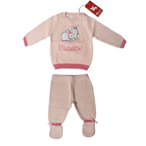 ست تی شرت و شلوار نوزاد سیلورسان طرح خرگوش کد 101